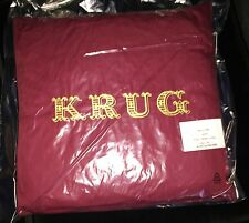 KRUG  CHAMPAGNE  CUSHION BRAND NEW BORDEAUX RED COLOURWAY  40 x 40 cm