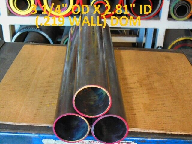 "24/""  LONG .125 WALL E0283  DOM ROUND STEEL TUBE  3.500 OD  X   3.250 ID"