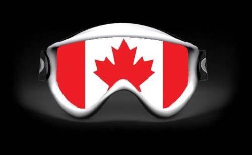 SKULLSKINS MOTOCROSS ATV BMX SNOWBOARD SKI GOGGLE STICKER CANADA FLAG