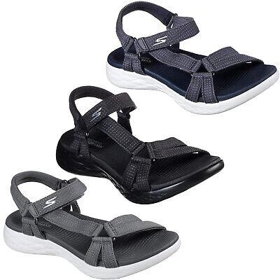 Skechers On The Go 600 Brilliancy Sandali Memoria Schiuma Cinturino Gorun Donna | eBay
