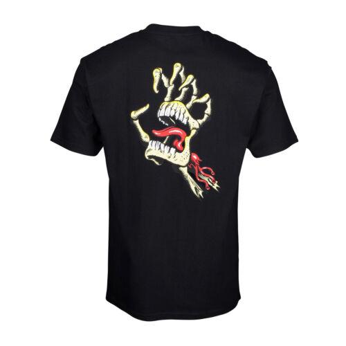 Santa Cruz Vintage Os Main T-shirt à manches courtes-Noir Toutes Tailles