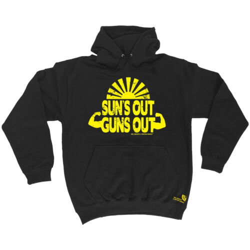 Suns Out Guns Out assouplissement Hoodie Hoody Birthday Fashion Poison Entraînement Gym Entraînement