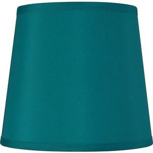 Teal Round Fabric Elegant Modern Contemporary Traditional Drum Lamp Shade New