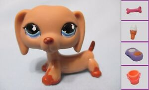 Littlest Pet Shop Dog Dachshund Weiner 518 Free Accessory Authentic