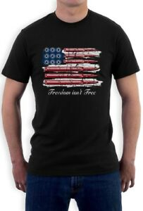 Freedom-Isn-039-t-Free-Vintage-Distressed-USA-Flag-4th-of-July-American-T-Shirt