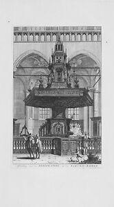 Antique-map-Afbeelding-von-de-predikstoel-in-de-nieuwe-kerke