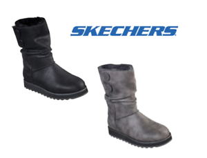 Details about Skechers Keepsakes 2.0 – Upland Fold Down Ladies Memory Foam Winter Ankle Boots
