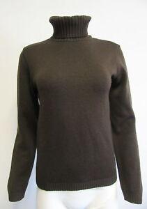 38422ae232872 PAUL   SHARK YACHTING brown 100% wool ribbed knit turtleneck sz ...