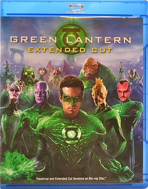 Green Lantern Movie Extended Cut Blu-ray + DVD 2 Disc Ryan Reynolds Blake Lively