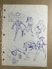 Daniel Johnston Original Artwork COA notebook figure study