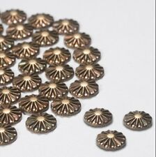 100 Bronze Spoke Pattern Metallic Rhinestones Iron on / Hot-fix