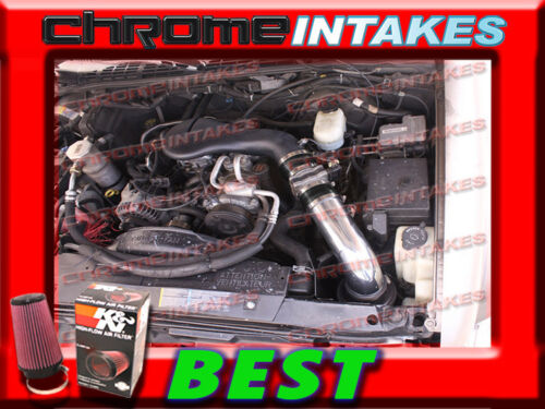 K/&N+BLACK RED 96-05 CHEVY S10 ZR2 BLAZER SONOMA JIMMY 4.3L V6 COLD AIR INTAKE HS