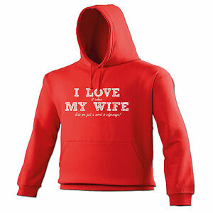 I Love It When My Wife à Paintballing HOODIE hood birthday funny paintball gift