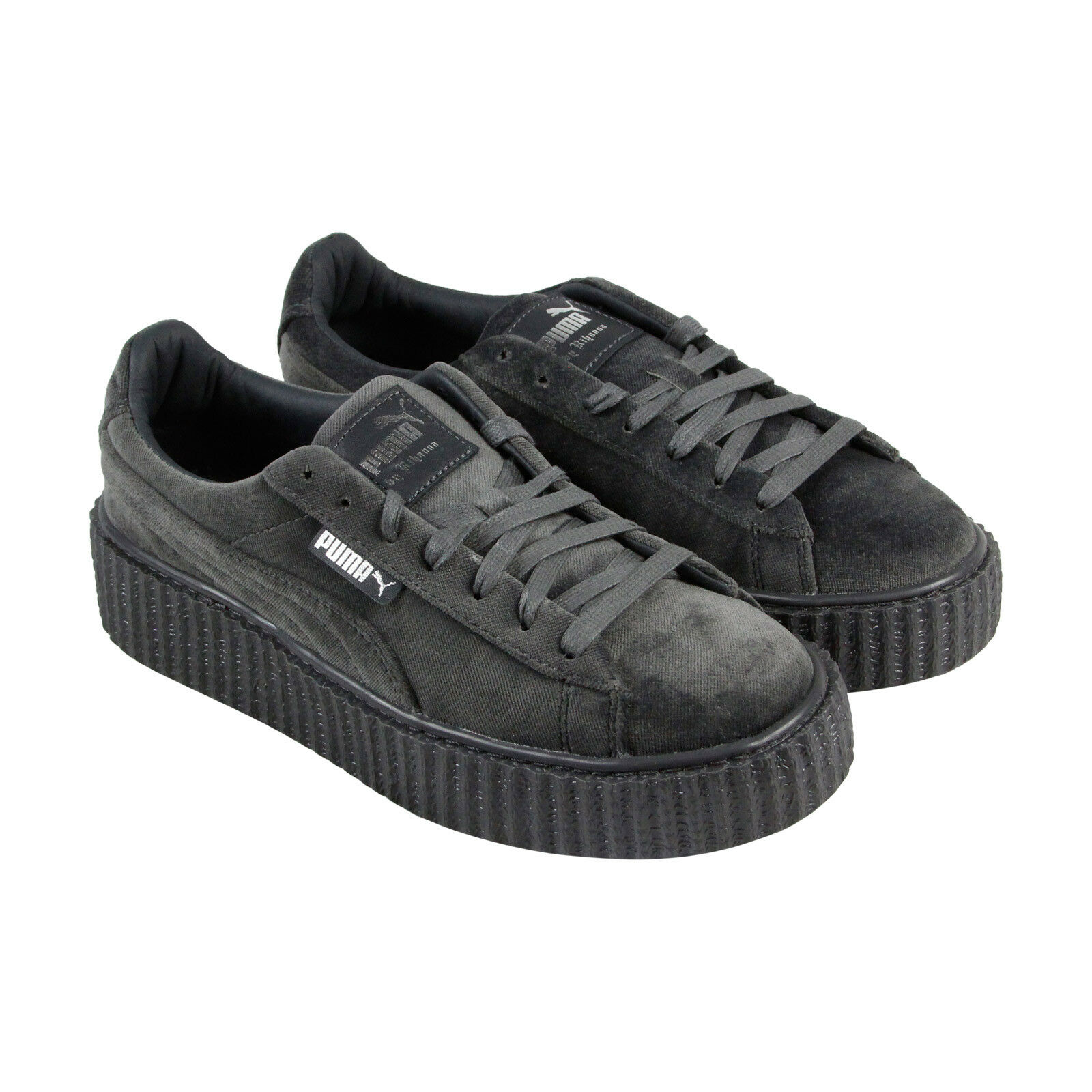 best deals on 8de98 218e9 Puma Fenty By Rihanna Creeper Velvet Womens Gray Casual Lace Up Sneakers  Shoes