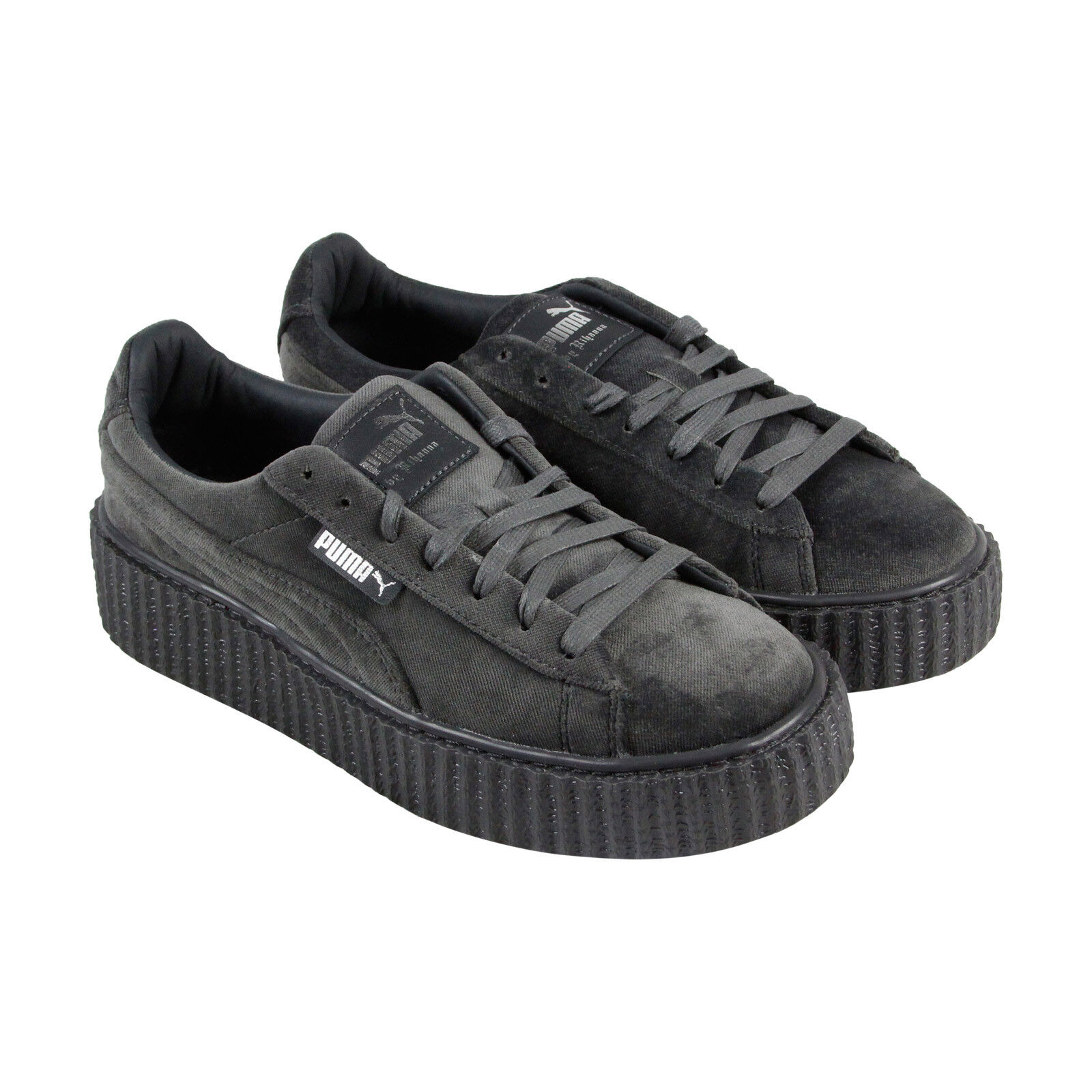 best deals on 43014 e0e82 Puma Fenty By Rihanna Creeper Velvet Womens Gray Casual Lace Up Sneakers  Shoes