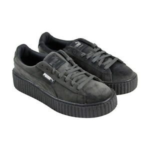 Puma Womens Fenty by Rihanna Riri Gray Creeper Velvet 36446603 Shoes ... 0d457f9c6