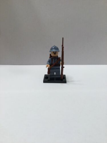 WW1 French Infantry Soldier Custom Minifigure Made From Lego Brickarms
