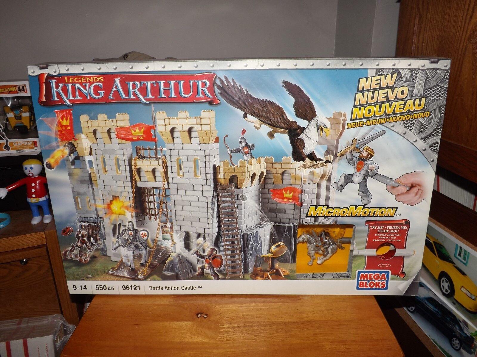 MEGA BLOKS, KING ARTHUR, BATTLE ACTION CASTLE,  96121, NEW IN BOX, 2008