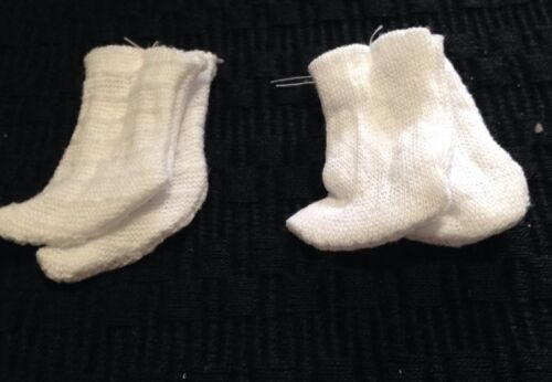 """WHITE  2 PR Lot Cotton SOCKS FOR 8/"""" Inch DOLL  GINNY ALEX Ginger Muffie LOT"""