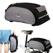 Black Multi 13L Cycling Bicycle Bikes Rear Seat Shoulder Hand Bag Bike Pannier