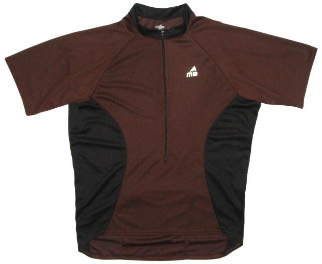 Borah Ripstop Cycling Jersey Large L LG Mens Short Sleeve Navy Blue USA Made Mt