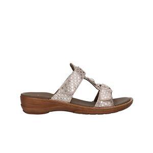 ARA Ciabatte taupe laminato  sandali donna mod. 12-27273