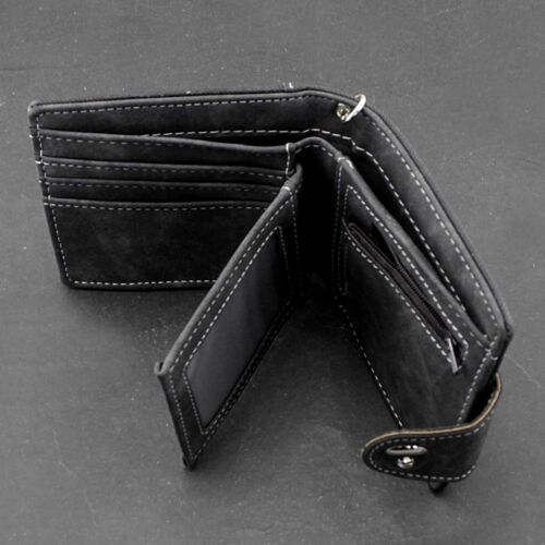 Biker Cowboy Mens Casual Snap Jeans wallet With Anti Lose Pants Chain