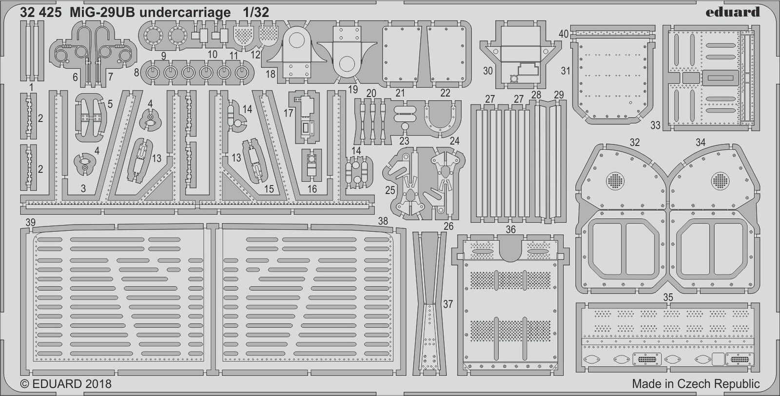 Eduard 1 32 Mikoyan Mig-29ub Fulcrum Train D'Atterrissage