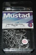 25 Pack Mustad 7794-DS Size 1 Durasteel Saltwater 3X Treble Hooks 7794DS-01
