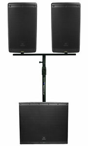 2-JBL-EON610-10-034-DJ-PA-Speakers-Dual-Air-Assist-Mount-EON618S-18-034-Powered-Sub