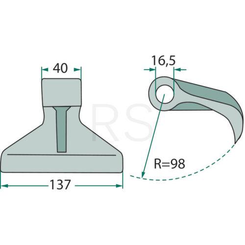 Hammerschlegel  für Agritec Berti Müthing AP00889 18063RM30