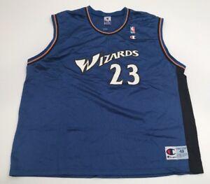 best service 77282 74e71 Details about Vtg Champion Jersey Michael Jordan Washington Wizards Size 48  XL