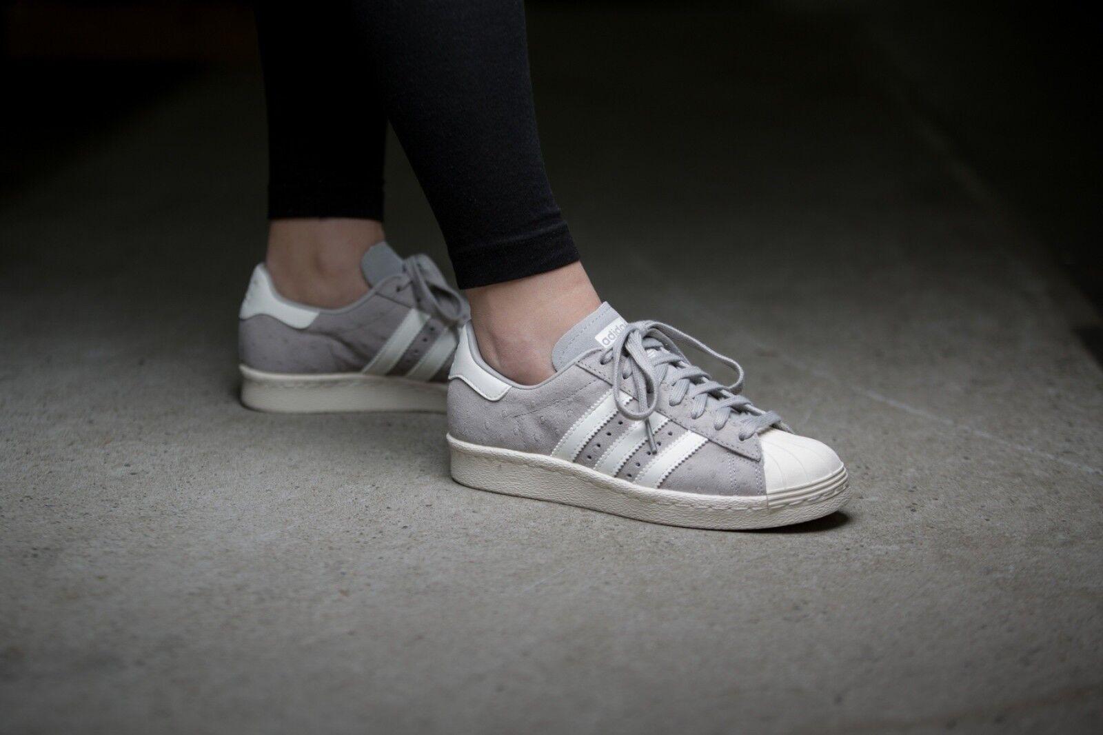 9101a93446e86 ... Adidas Adidas Adidas Originals Superstar 80s Women s Grey S75060 Gray  NWT Rare 78cf22 ...