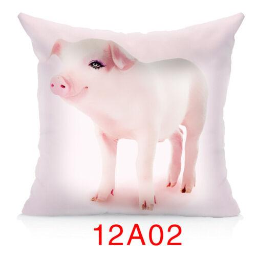 Cute Attractive Cartoon Animal Design Waist Cushion Cover Pillow Case Home Decor
