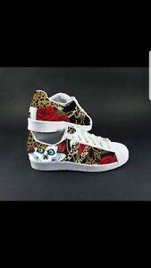 Adidas Glitterino Con Teschi E Scarpe Tessuto Superstar 6f4wxZx