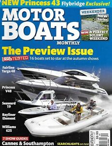 Motor Boats Magazine Monthly Magazine Fairline Targa Princess Seaward Williams 70989306844 Ebay