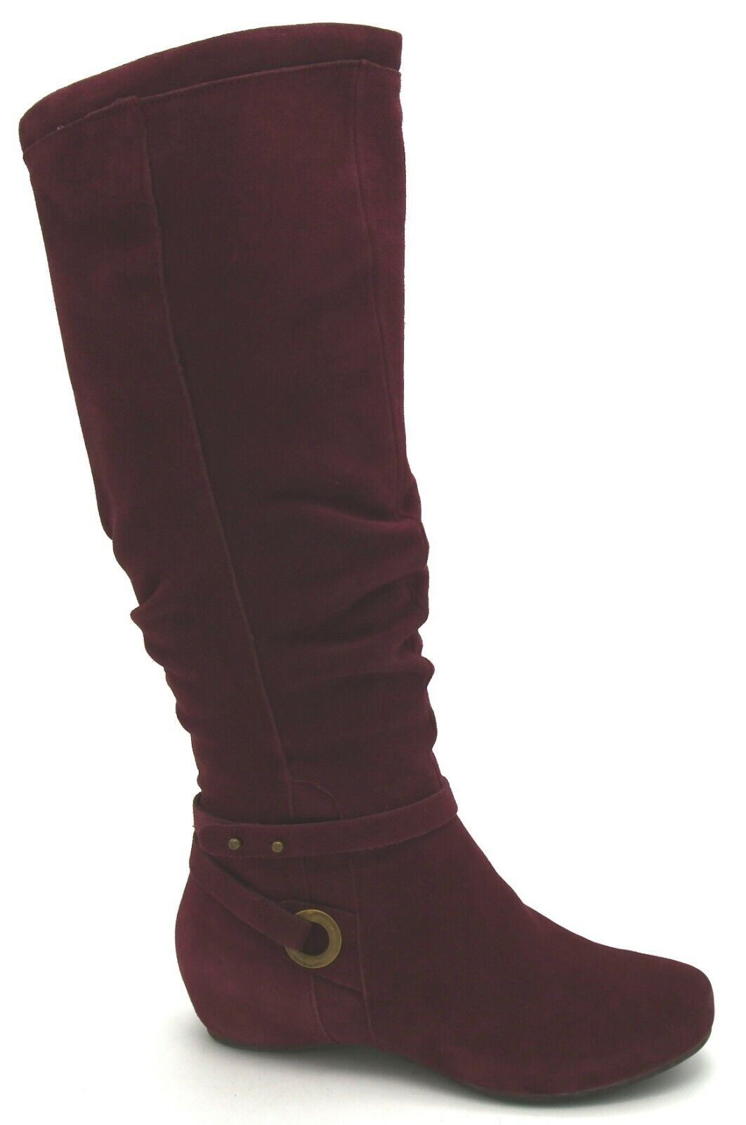 J7951 New Women's Pure Sole Smitten Burgundy Suede Boot 8.5 M