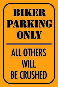 Biker-Parking-Only-Moto-Panneau-Metallique-Plaque-Etain-Signer-20-X-30-cm-CC0898