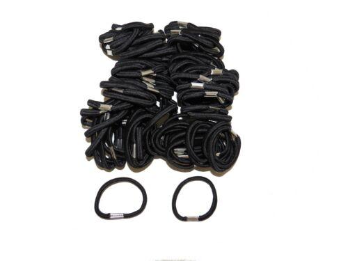 ** NOUVEAU ** élastiques à cheveux-Mixte Couleur noir-Épais Mince-Pack de 100 école