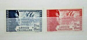 FRANCIA-1942-034-LEGIONE-TRICOLORE-034-NUOVI-MNH-SET-CAT-10