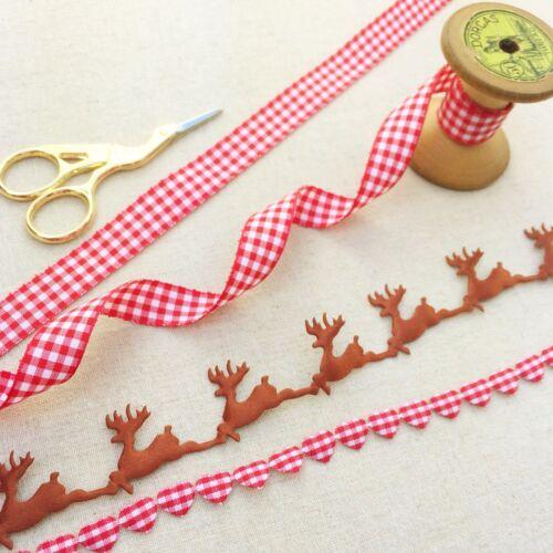 Plaid Christmas Ribbon Christmas Ribbon Reindeer Ribbon Collection
