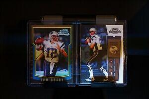 Tom Brady 2000 Contenders, and Bowman Chrome Rookie card. R/P Photos. NICE!