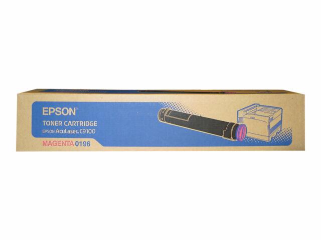 EPSON AcuLaser C9100 Series Toner Cartridge - Magenta 0196 - p/n C13S050196