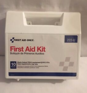 New First Aid Only 10 Person First Aid Kit Plastic Case Free Ship 62 Pieces