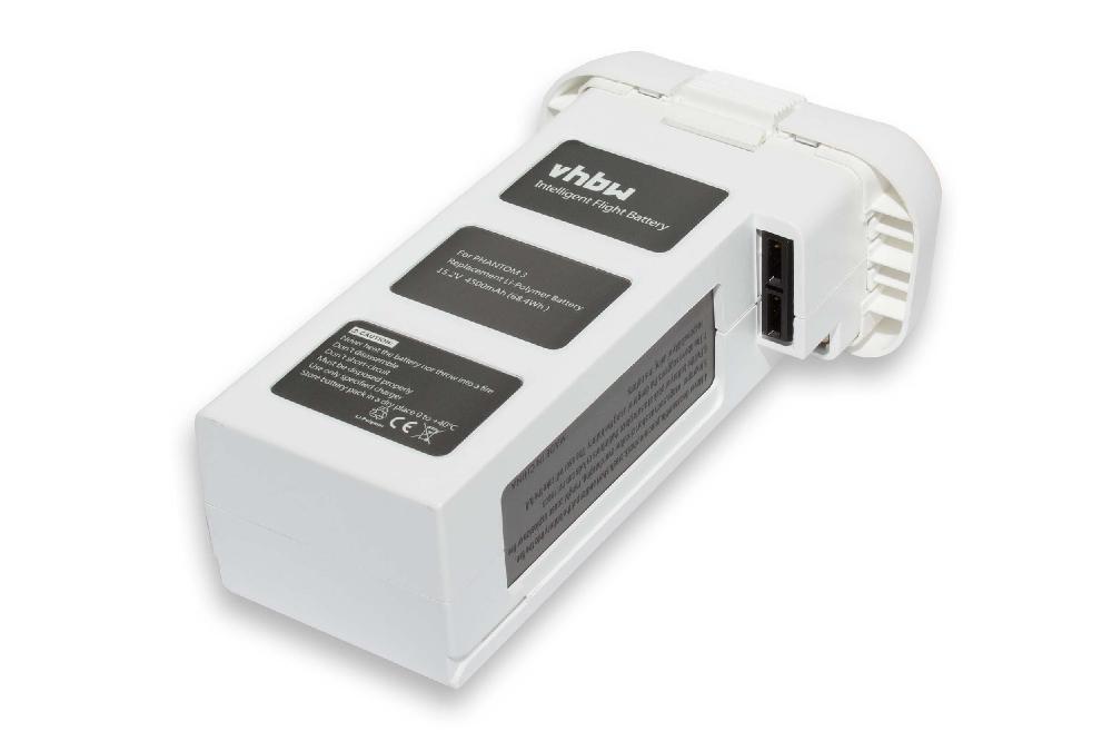 BATTERIA -VHBW- 4500mAh 15.2V Li-Poly per DJI Phantom 3 Professional