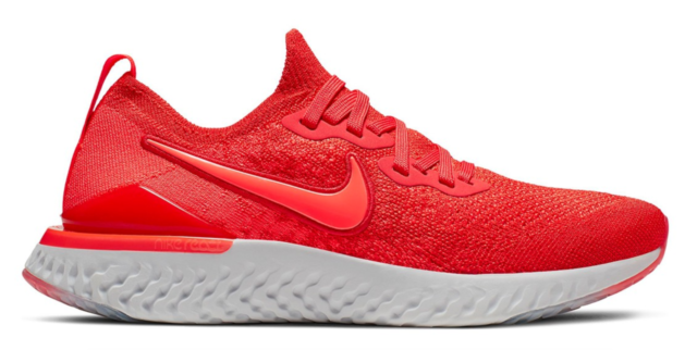 "Nike Epic React Flyknit 2 ""Chili Red"" Running Shoes AQ3243-601 Size 5Y"