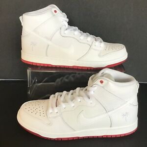 5683e7f741c2 NIKE SB ZOOM DUNK HIGH PRO QS WHITE-RED