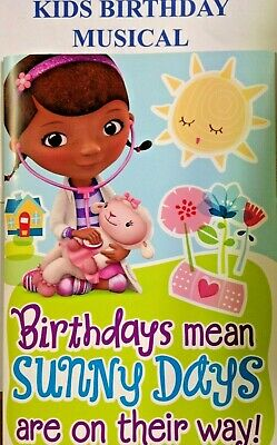 Fantastic Disney Doc Mcstuffin Kid Birthday Card Music Sound Doc Mcstuffins Personalised Birthday Cards Cominlily Jamesorg