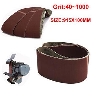 10 Pack 100 Grit Sanding Belts Aluminum Oxide Sander Replacement Accessories
