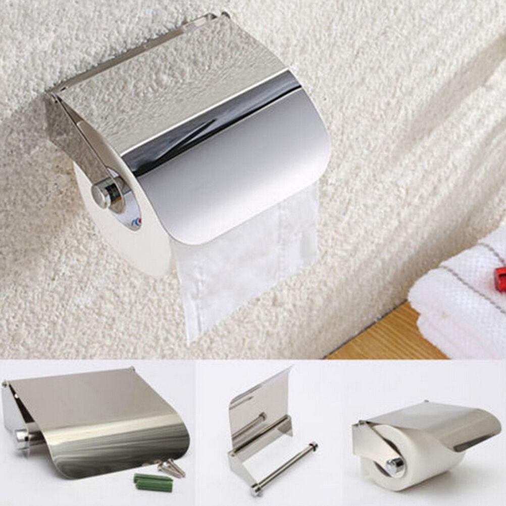 Wand befestigte Badezimmer-Edelstahl-Toilettenpapierhalter Rolle Tissue HHQ19